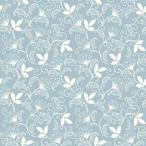 fundo floral azul